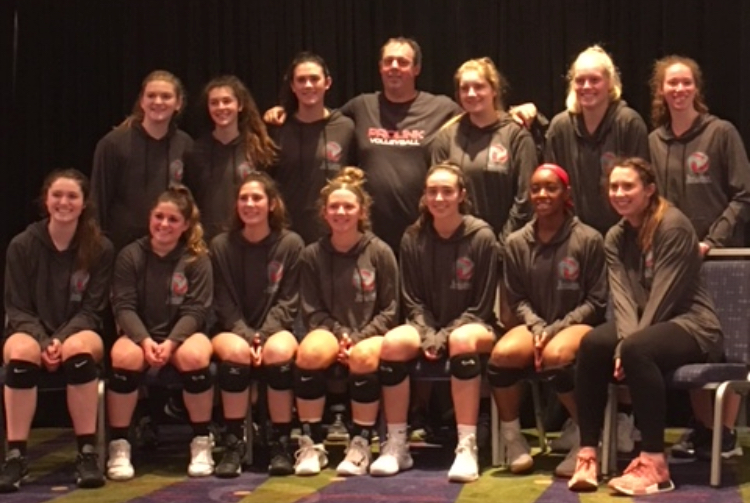 The+JV+Volleyball+takes+a+group+picture+during+the+tournament.+The+players+have+been+preparing+for+tournaments+since+December%2C+and+were+able+to+show+their+hard+work+at+The+First+Lady%27s+Challenge.