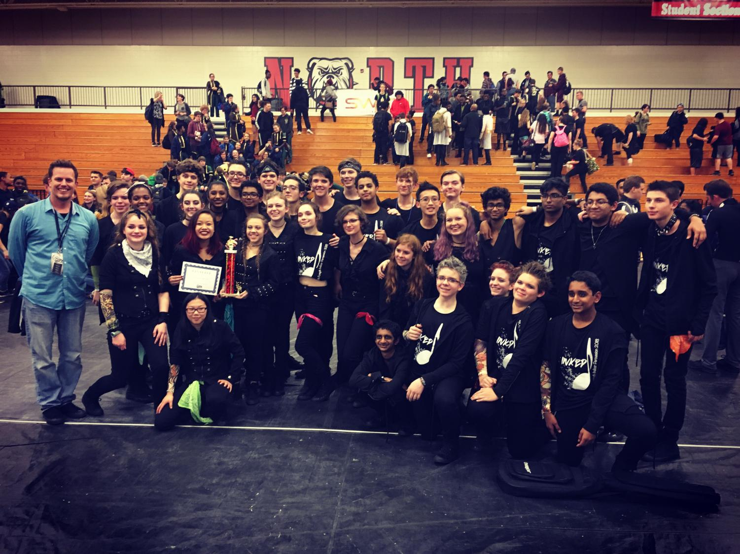 February 17, 2018 - The South Forsyth Indoor Percussion team gathered for a picture after winning 1st place at the Georgia Indoor Percussion Association (GIPA) competition. Photo used with the permission of Stephen Hendricks and Dixon Pendergrass.