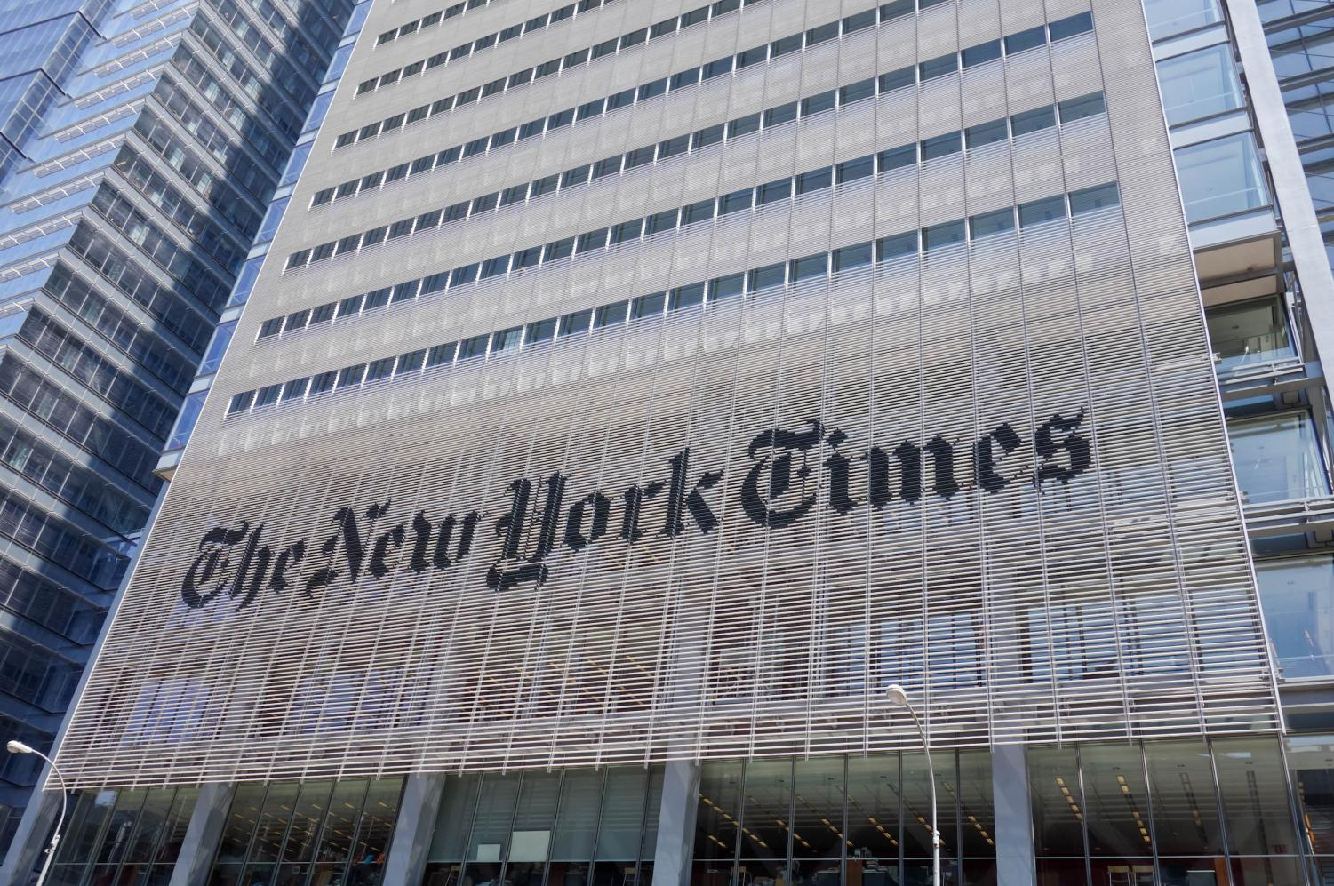 Four students at South Forsyth High School were recognized in the New York Times for their work. The New York Times building, which is located in Midtown Manhattan, New York City, was completed in 2007.