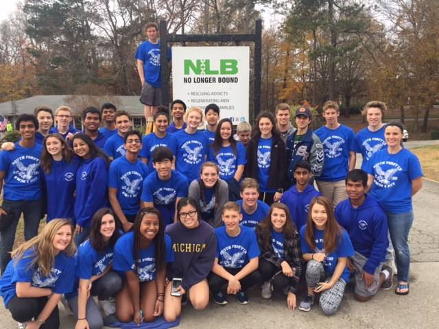 South Forsyth swim and dive team show their love for their community by participating in a Day of Service. They partook in activities for Corners Outreach, The Place and No Longer bound.