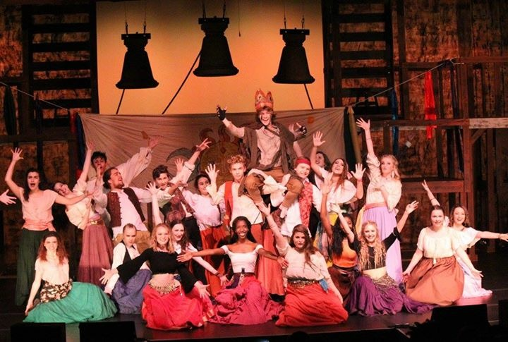 South+Forsyth+students+take+the+stage+in+their+recent+performance+of+the+Hunchback+with+Charlie+Webb+as+The+Hunchback.