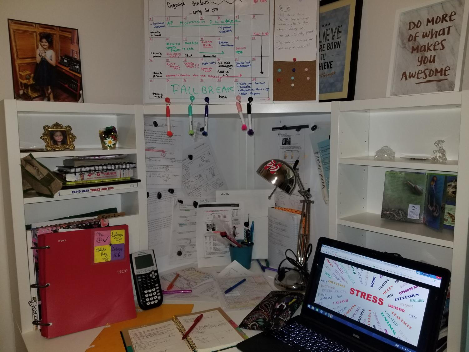As the year goes on, students' desks are getting more cluttered- just like their minds.