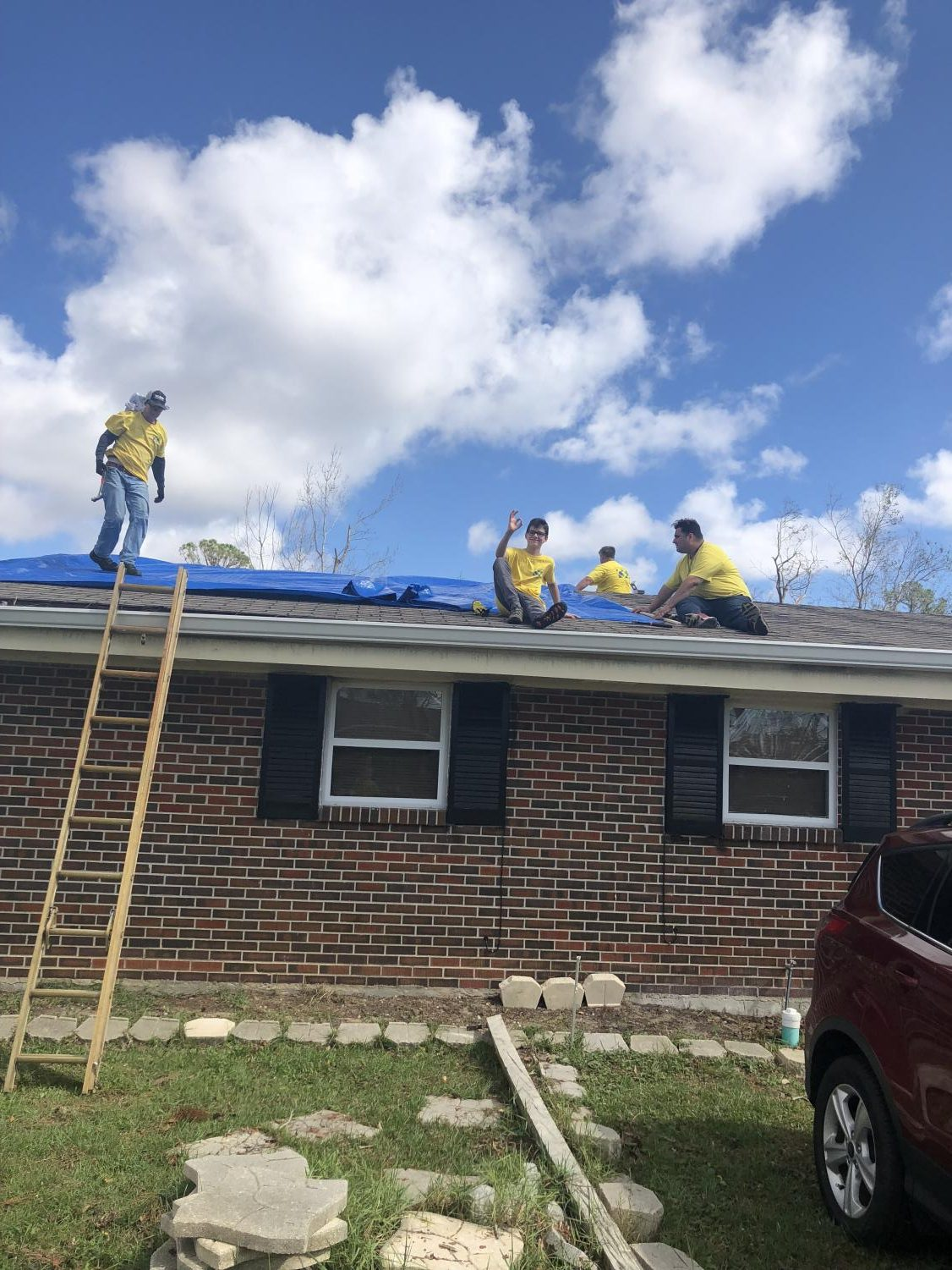 Yellow. The color shines bright as volunteers from the Chruch of Jesus Christ of Latter- Day Saints offered their hands and their weekend for those devastated by hurricane Michael.