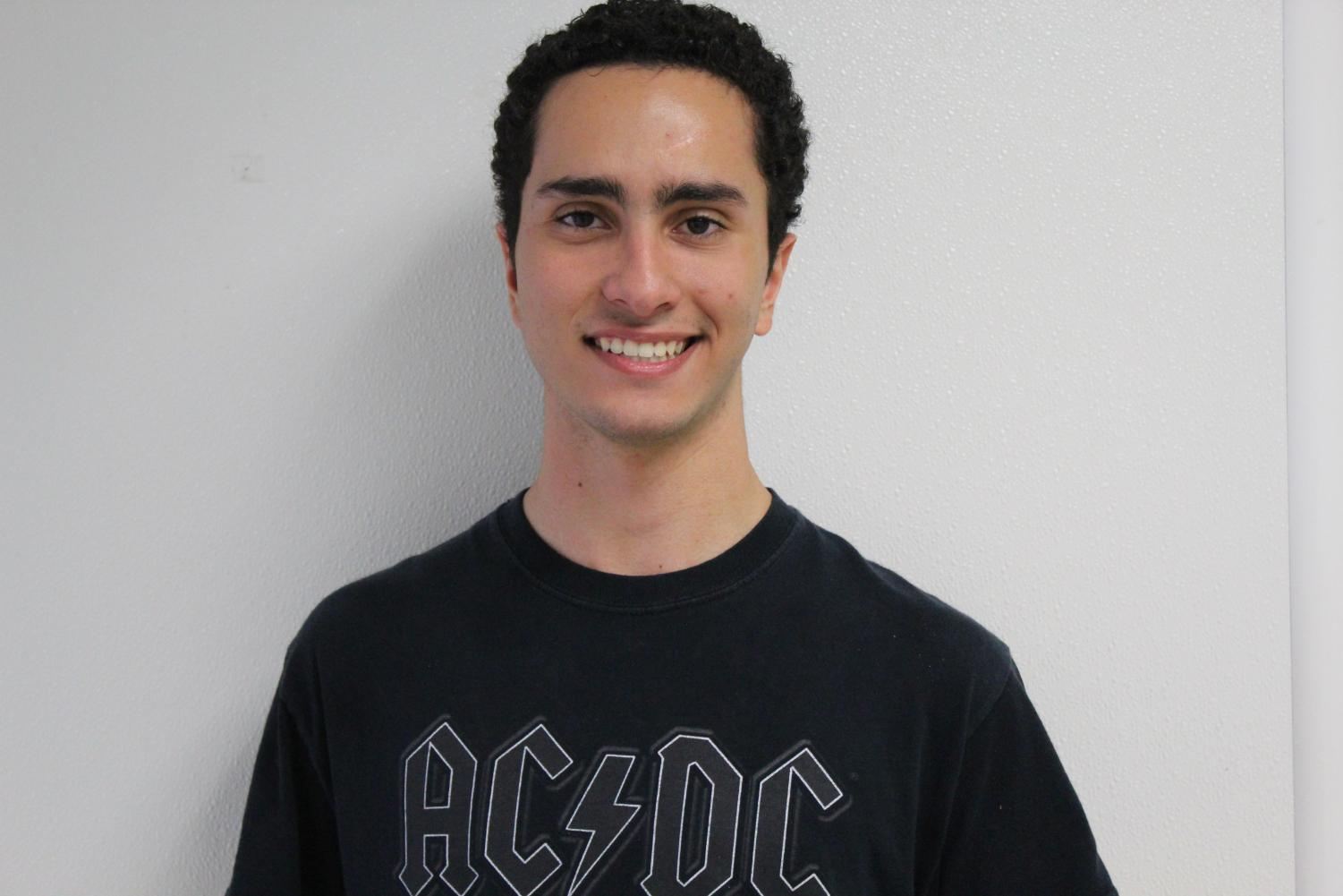 Rho Kappa member makes a difference. Lucas Ramos Gimenez has been spreading the word about voting, trying to get his fellow students to get involved in local politics.