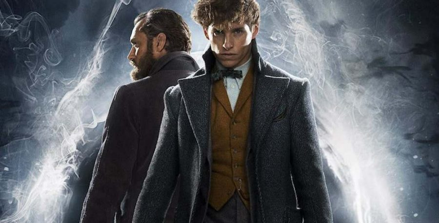 Magic and wonder. Fantastic Beasts: Crimes of Grindelwald is the second installment of the Fantastic Beasts movie series. This movie poster displays two of the main characters: Albus Dumblemore and Newt Scamander.