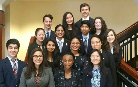 Mock Trial Group Photo. The Mock Trial Team gathers together for a group picture at the Georgia High School Mock Trial Competition last year. Although some members have moved to Denmark High School, the Mock Trial Team has gathered new members and are improving every day for their new case.