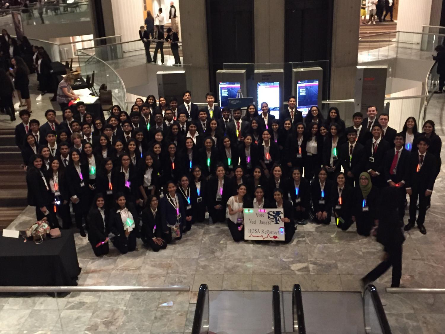 Future health professionals. HOSA members attended the the annual State Leadership Conference to follow their passion in medicine. Like past years, this conference has taken place in downtown Atlanta at the Atlanta Marriot Marquis.
