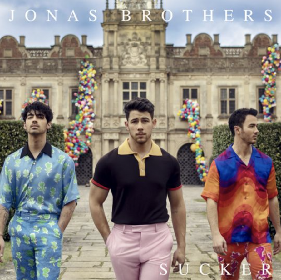 Band+revival.+The+Jonas+Brothers+come+back+together+after+being+split+up+for+about+six+years.+The+new+single+%22Sucker%22+is+just+the+beginning%3B+the+band+is+rumored+to+have+already+recorded+40+to+50+songs.