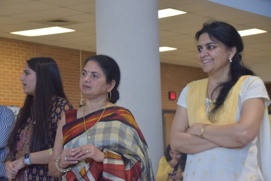 Teachers proudly observing success. Above are pictured Manju Tiwari (left, and Smita Daftardar (right), watching BalVihar alumni discuss the impact Hindi has had on their lives years after their graduation.  BalVihar strives to teach Hindu students in America how to find context in their life, when religion and culture is questioned. When asked how Shyam Tiwari believes BalVihar is important, he says,