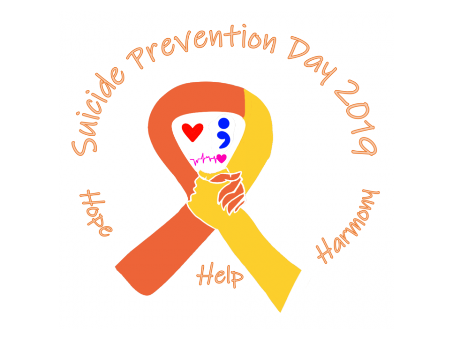 Saving lives. South Suicide Prevention Day educated students, advising them to unite together to overcome the challenges of mental illness. Several symbols such as a heartbeat, semicolon, and yellow ribbon were advertised to show the value of continuing life.