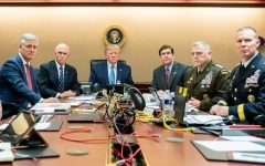 Looking into a storm. Pictured are President Trump and his counsel watching the raid unfold. Trump claimed to have been in close touch with the special-op forces, and aims to eliminate Islamic Forces in Syria. He claimed on Twitter,