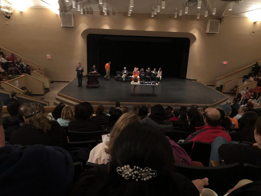 The silent auditorium. Students sit patiently in the auditorium eager to hear the outcome of their efforts. They all held their breaths as their languages were being called out.