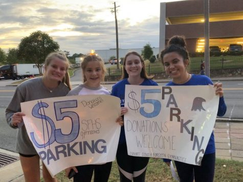 New Recruits Help Out at the SFHS Gymnastics Team Fundraiser