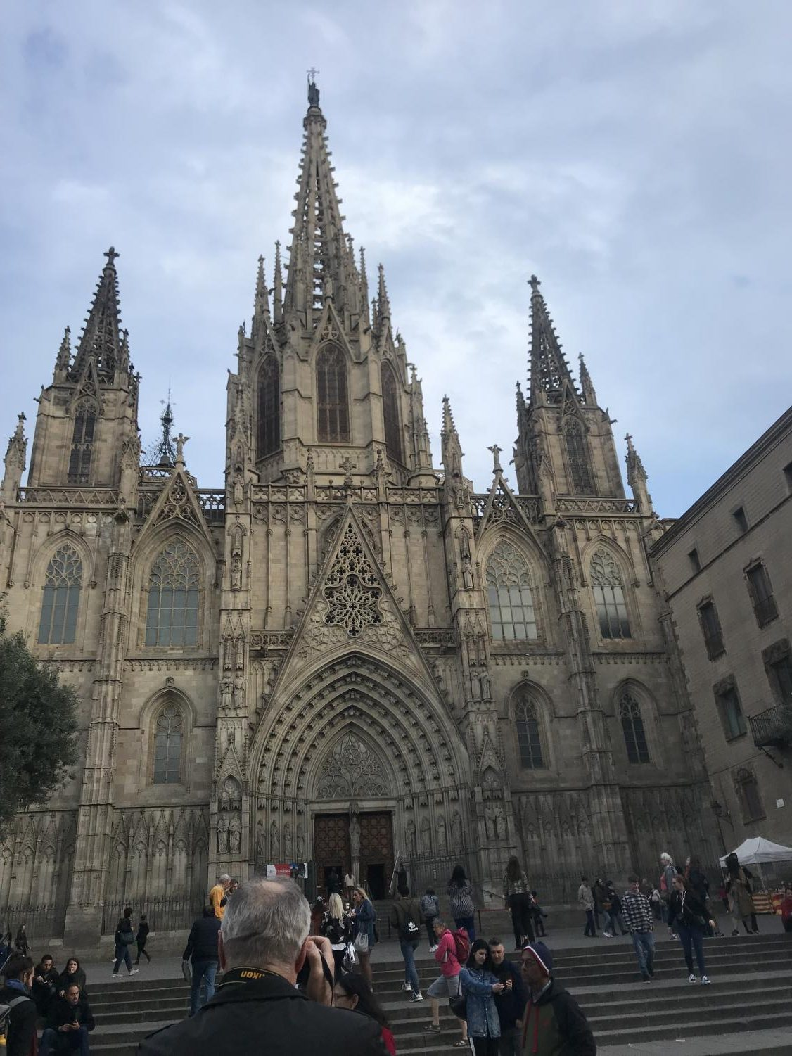Cathedral of Barcelona. The Catholic church is an important part of Spanish culture which is represented by the architecture found in the country. Traveling to different regions allows one to broaden their cultural perspective.