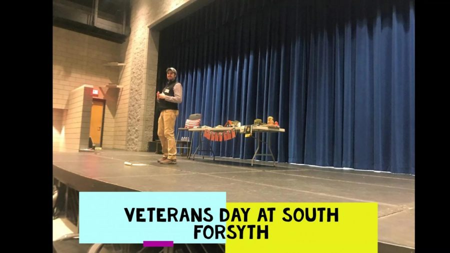 A day to honor the veterans that have served. The first Veteran's day was observed on October 25, 2019. This Veteran's day Sergeant McClinton came to speak to U.S. History classes about his service and memories as an Army Ranger.
