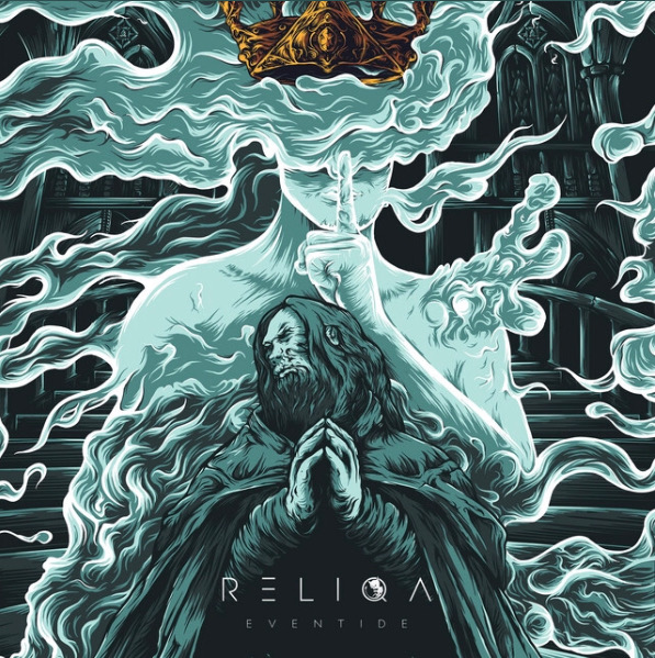 Reliqa's watery world, Eventide. Australian quartet Reliqa is breaking into the metal scene. Released on November 9, 2018, Eventide is Reliqa's first full length album.
