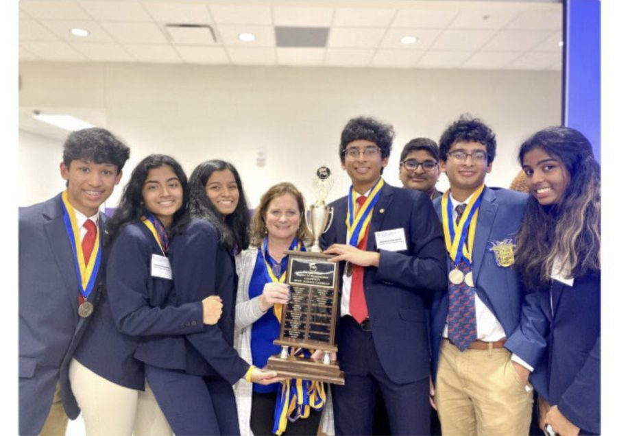 Another year. South Forsyth's FBLA chapter wins the Region Sweepstakes for the 6th year in a row. SFHS students (from left to right) sophomore Ayush Gundawar, junior Harshini Kavalakuntla, junior Tharini R.K., sophomore Abhishek Pasupuleti, sophomore Rohit Gogi, sophomore Abhinav Pasupuleti, and sophomore Tanvi Alluri attended the Region Leadership Conference on January 14th along with FBLA advisor, Mrs. Yonk.