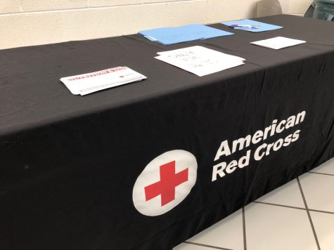 Recruting all around. FBLA members and members from the American Red Cross organization were in the main hall atrium recruiting many blood donors. Students also had the opportunity to learn more information about donating blood.