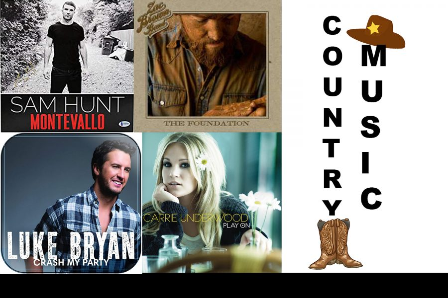 Dirt roads and pretty girls. One of the genres of music on the rise is Country Music. Country music has deep roots in the South where it is the main center of inspiration for the genre. Top artists for this genre include Carrie Underwood, Luke Bryan, Sam Hunt, and Zach Brown Band.