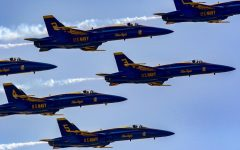 US Navy Blue Angels and Air Force Thunderbirds honor healthcare workers