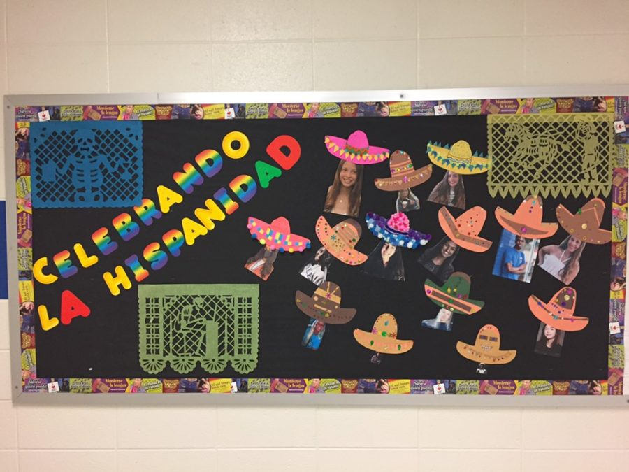 Celebrating+Hispanic+cultures.+South+Forsyth+students+and+teachers+honor+their+Hispanic+peers+during+Hispanic+Heritage+Week.+Faculty+and+students+had+the+opportunity+to+participate+in+multiple+events+and+presentations.