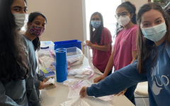 Packing supplies. As the elections round closer, Forsyth County School students volunteer to pack different cleaning materials to ensure healthy practices during the 2020 General Elections. Students have also packed different disinfectant supplies such as hand sanitizer and gloves for the poll workers as well.