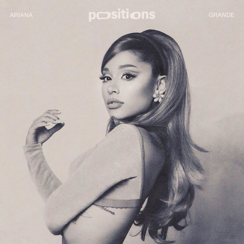 """An alternate photo of the """"Positions"""" album cover. Grande returns back to a black and white album cover theme similar to """"Dangerous Woman,"""" """"My Everything,"""" and """"Yours Truly."""" She released additional alternate photos on Instagram soon after the release of the album."""