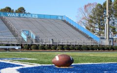 The empty South Forsyth High School football field and stadium. The cancellation of the big game was a sad day for many senior football players, cheerleaders, and their families. The sight of the empty stadium helped many students realize that the pandemic isn't over yet and that everyone must remain vigilant in their efforts to remain healthy and safe.