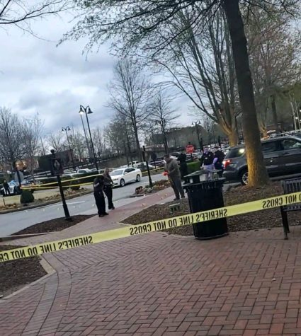 An unforeseen situation. Recently, there was a crime scene at a common hangout spot in Forsyth County. Many students who were at the site of the stabbing were shocked and scared by the horrific events.