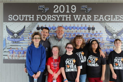 """A staple at South. Mr. Arant, 2020-2021 SFHS teacher of the year, marveled on his success. His students adore him and he gave credit for his success to his partner Mrs. Tyra. Mr. Arant stated, """"Without her, I won't be where I am now."""""""