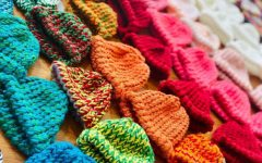 Colorful Homemade Beanies. These are the beanies from one of the first shipments made by the GA Madhatter Knits Chapter. They later shipped the beanies to the NICUs, where the nurses filled the babies with love and kept them warm with these beanies.   Used with permission from GA Madhatter Knits