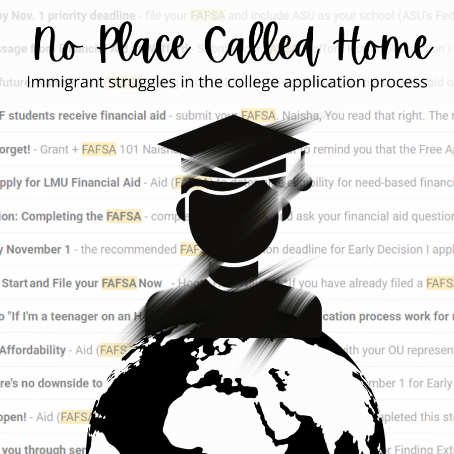 No place called home. Students on dependent visas often find themselves in limbo during the college applications process. While designed to be helpful for all types of students, the process can end up being very alienating.
